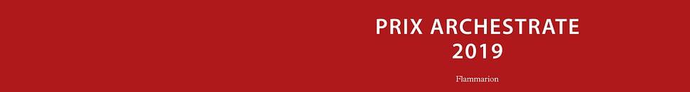 PRIX ARCHESTRATE 2019