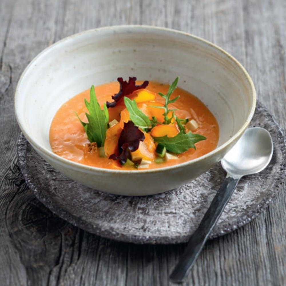 recette de grand chef alessandra Montagne Gaspacho-de-melon